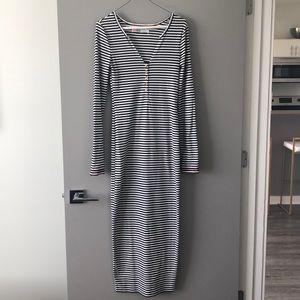 Free People Beach striped maxi dress